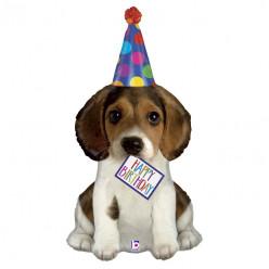 Balão Supershape Happy Birthday Cachorrinho 104cm