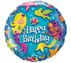 Balão Supershape Happy Birthday Sereia