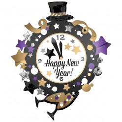 Balão Supershape Relógio Happy New Year