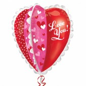 Balão Ultrashape Painel Multiplos Corações