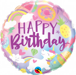Balão Unicórnio Fun Happy Birthday