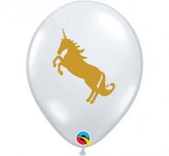 Balão UNICÓRNIO látex transparente