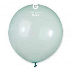"""Balão Verde Crystal 19"""" (48cm)"""