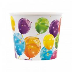 Balde Plástico Pipocas Balões