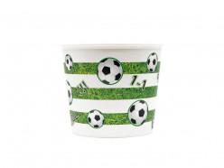 Balde Plástico Pipocas Futebol