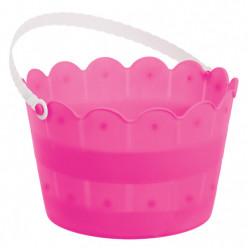 Balde Plástico Rosa Fúscia