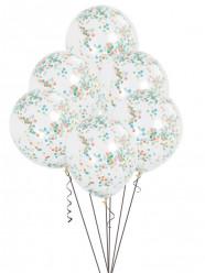 Balões Confettis Transparentes 6und