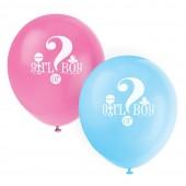 Balões Latex Baby Shower Girl or boy? - 8 Und