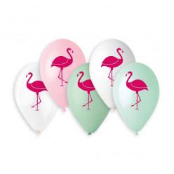 """Balões Premium 13"""" Flamingo sortido"""