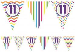 Bandeirola Happy Birthday 11