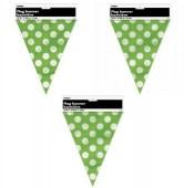 Bandeirola verde bolinhas 3,65m