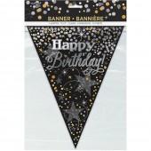 Bandeirolas Glittering Happy Birthday