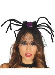Bandolete Aranha Roxa com Véu Halloween