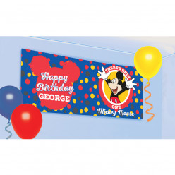 Banner Faixa Mickey Personalizável