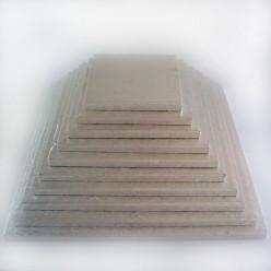 Base Alta Bolos Quadrada Prateada 12.5cm