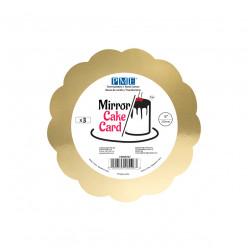 Base Bolo Espelho Dourado 15cm PME 3 uni
