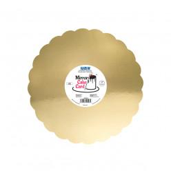 Base Bolo Espelho Dourado 25cm PME 3 uni