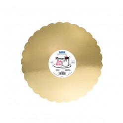Base Bolo Espelho Dourado 30cm PME 3 uni