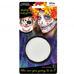 Base de pintura facial branca Halloween