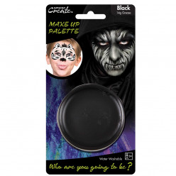 Base de pintura facial preta Halloween