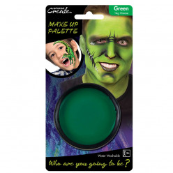 Base de pintura facial verde Halloween