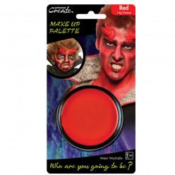 Base de pintura facial vermelha Halloween