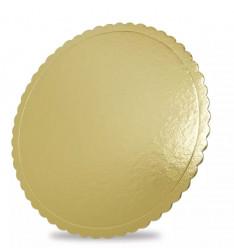 Base Dourada Bolos Borda Ondulada Ø 32cm