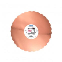 Base Espelho Rosa Ouro 30cm PME 3 unid