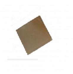 Base Quadrada Dourada para Bolos 23x23cm
