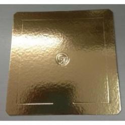 Base Quadrada Dourada para Bolos 35x35cm