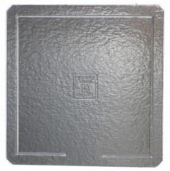 Base Quadrada Prateada para Bolos 39x39cm