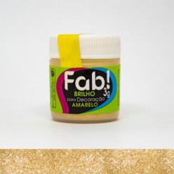 Brilho para Decoração FAB Amarelo 3g