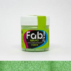 Brilho para Decoração FAB Verde 3g