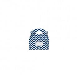 Caixa Brinde Ziguezague Azul