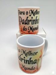 Caneca Cerâmica Madrinha/Padrinho