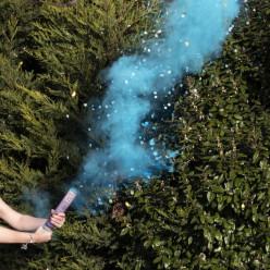 Canhão Confettis Com Fumo Revelação Menino