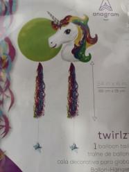Cauda Balão Twirlz Tons Unicórnio