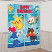 Cenário Decoração parede do Pokémon