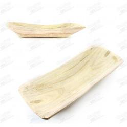 Centro de mesa rectangular em madeira