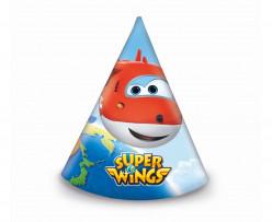 Chapéu cone festa Super Wings 6 unid