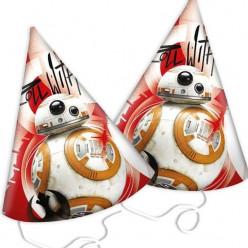 Chapéus de festa  Episodio VIII Star Wars 6 unid