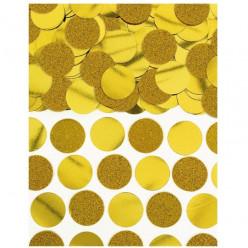 Confettis Circulos Dourados Metalizados 63g