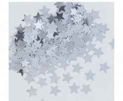 Confettis Estrelas Prata Metalizados