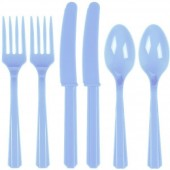 Conjunto 18 talheres festa Azul claro