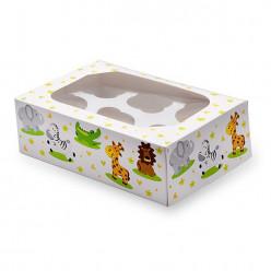 Conjunto 2 Caixas Cupcakes Animais da Selva