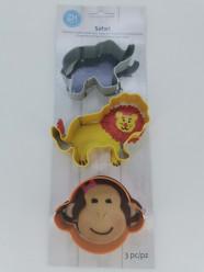 Conjunto 3 Cortadores Animais da Selva