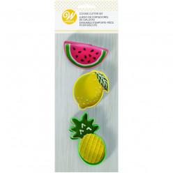 Conjunto 3 Cortadores Frutas