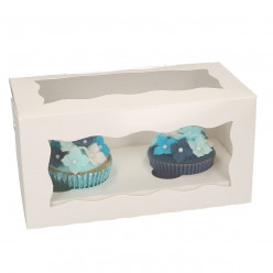 Conjunto 5 Caixas Cupcakes Brancas FunCakes