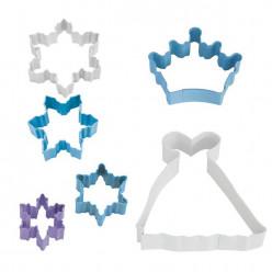 Conjunto 6 Cortadores Snow Queen