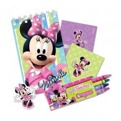 Conjunto Papelaria Brinde Minnie 20 peças